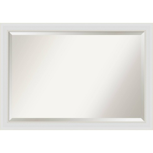 40 X 28 Flair Framed Bathroom Vanity Wall Mirror Soft White Amanti Art Target