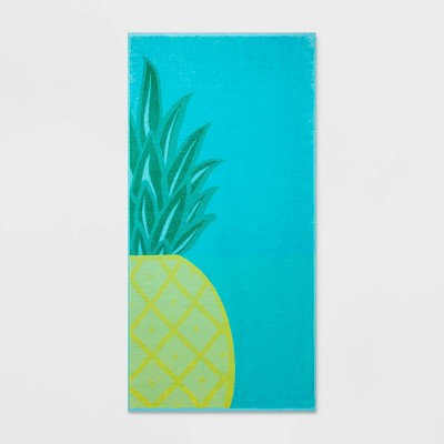 Pineapple Beach Towel XL Aqua Blue - Sun Squad™