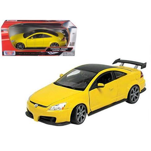 2003 Honda Accord Custom Tuner Yellow 1 18 Cast Model Car By Motormax Target
