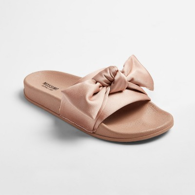 Women's Julisa Slide Sandals With a Bow - Mossimo Supply Co.™ Blush 9