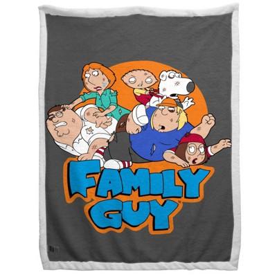 """60""""x90"""" Family Guy Sherpa Blanket"""
