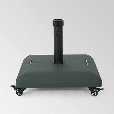80lb Hayward Steel Square Umbrella Base with Wheels - Christopher Knight Home