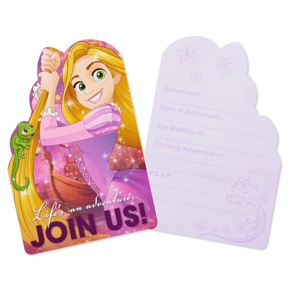 8ct Rapunzel Birthday Invitations