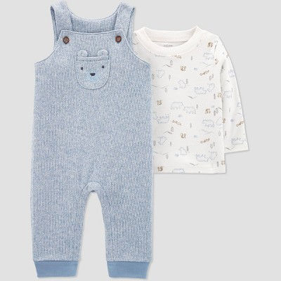 Baby Boys' Bear Top & Bottom Set - Just One You® made by carter's Blue Newborn