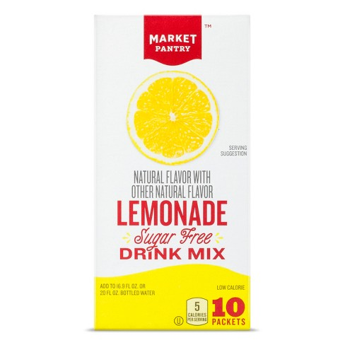 Sugar-Free Lemonade Drink Mix - 10ct/0.14oz Pouches - Market Pantry™ - image 1 of 1