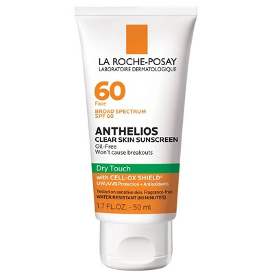 La Roche-Posay Anthelios Clear Skin Dry Touch Face Sunscreen for Acne Prone Skin - SPF 60 - 1.7oz