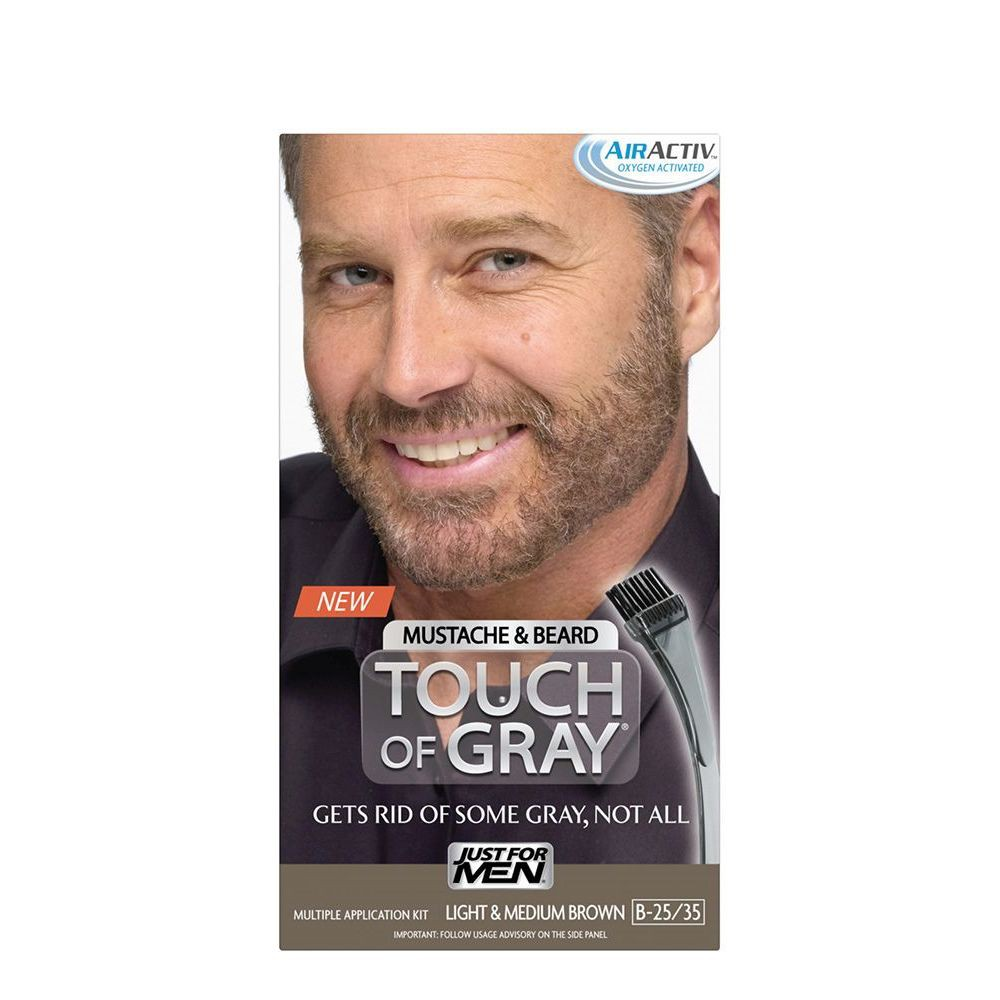 Image of Touch of Gray Mustache & Beard Light & Med Brown B-25; B-35, Light & Medium Brown B-25/35