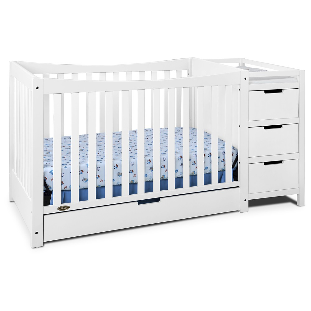 Image of Graco Remi 4-in-1 Convertible Crib and Changer - White
