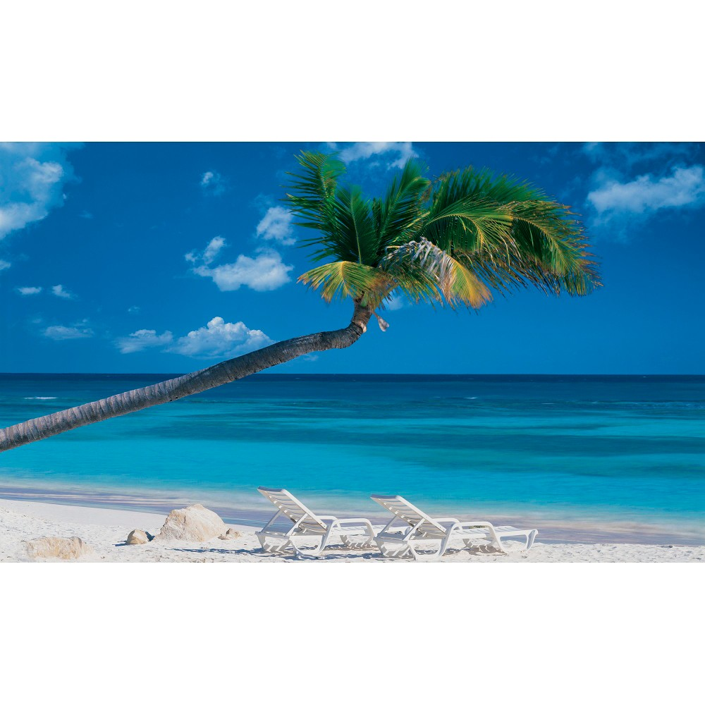 "Image of ""Beach Wall Mural - 8'3""""x13'8"""", Blue"""