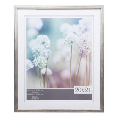 Single Image 20X24 Gray Frame with Double Mat to 16x20 - Gallery Solutions