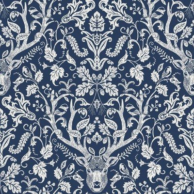 NuWallpaper Escape to the Forest Peel & Stick Wallpaper Navy
