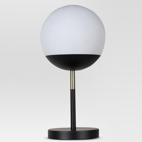 Globe Head Led Table Lamp Includes Energy Efficient Light Bulb