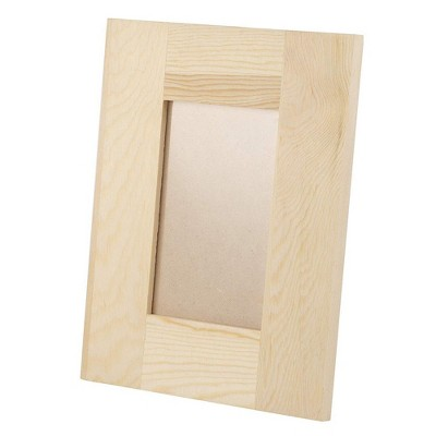 """6-Pack DIY Unfinished Wooden Picture Frame Hold 4""""x6"""" Photo For Desk Decoration"""