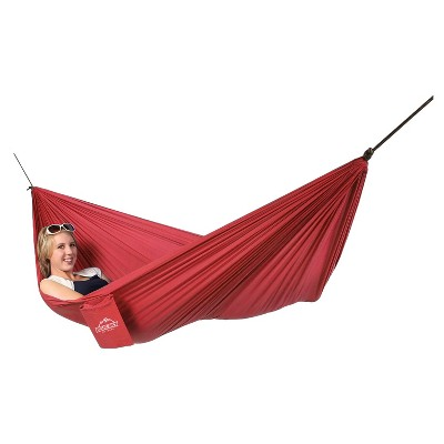Quest Blue Sky Single Ultralight Hammock with Tree Straps - Red