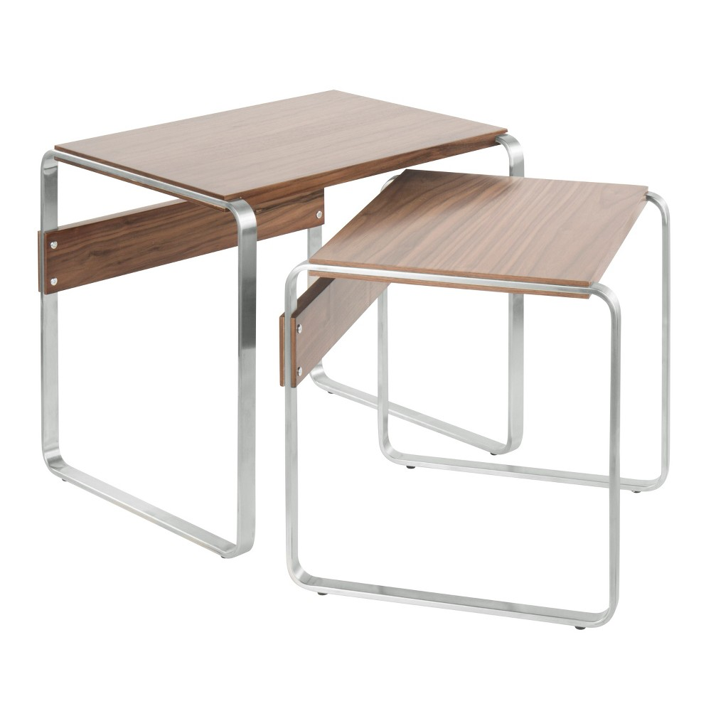 Peachy Tea Side Mid Century Modern Nesting Tables Stainless Pabps2019 Chair Design Images Pabps2019Com