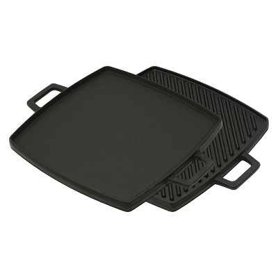 Bayou Classic Cast Iron 10.5in Reversible Griddle