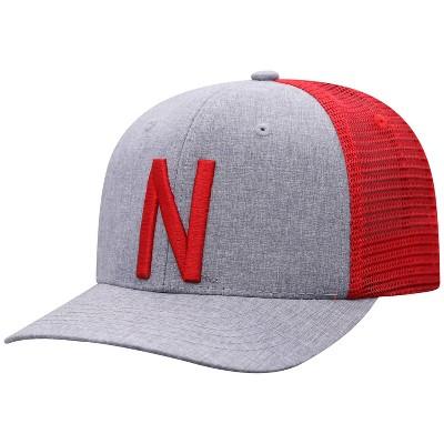 NCAA Nebraska Cornhuskers Men's Gray Chambray with Hard Mesh Snapback Hat