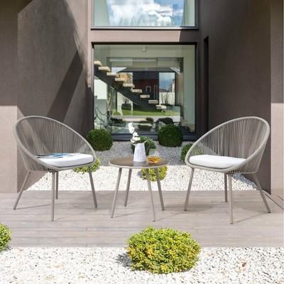 3pc Aluminum & Rope Patio Set - Nuu Garden