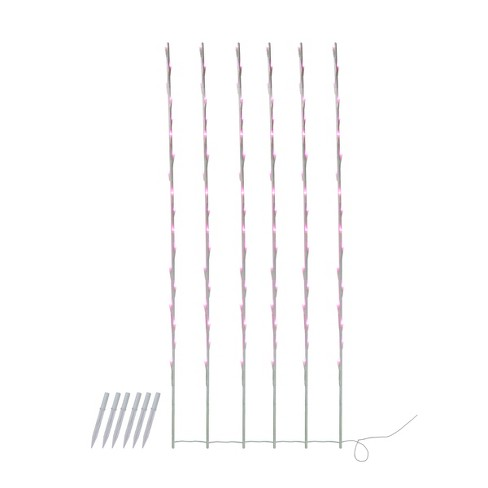 Northlight 108 Pink LED Lighted Branch Patio and Garden Novelty Christmas Light Stakes - 8.5 ft White Wire - image 1 of 1