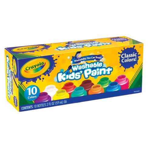 crayola kids paint washable 10ct 2oz classic colors target