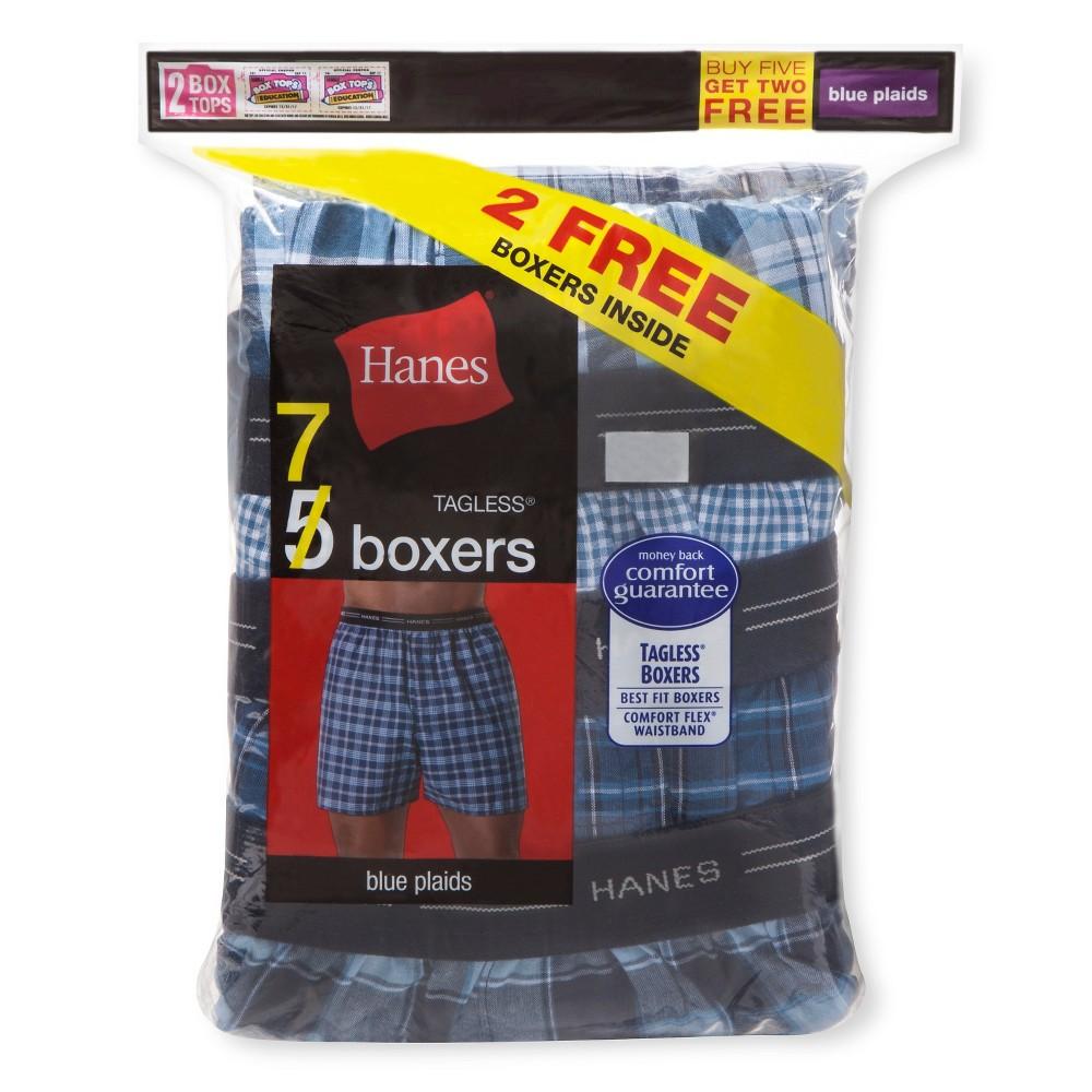 Hanes - Men's Boxer Shorts Blue XL