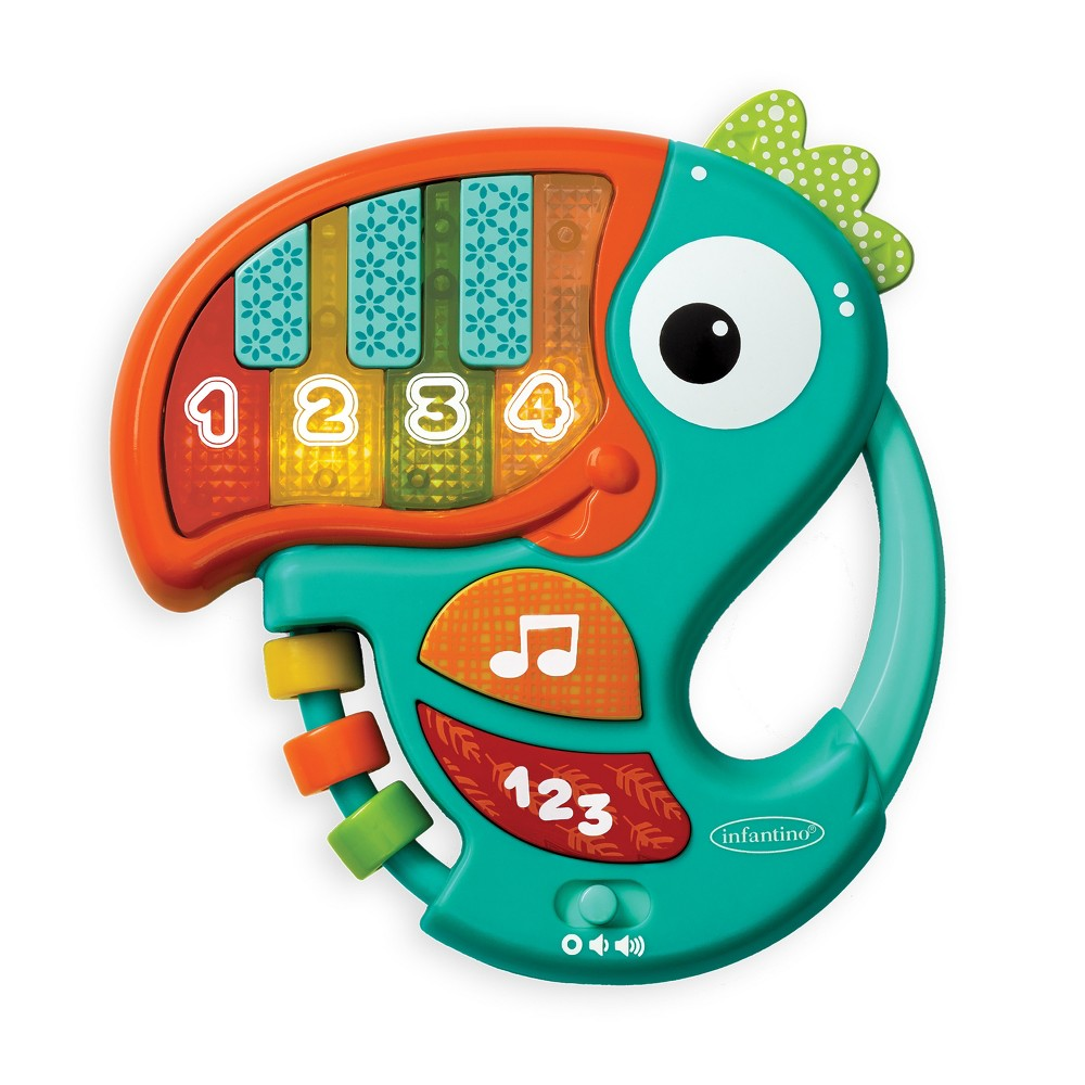 Image of Infantino Go Gaga! Piano & Numbers Learning Toucan