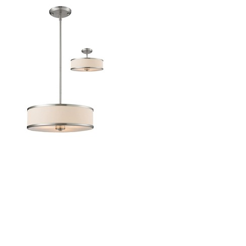 Convertible Pendant Ceiling Lights with White Linen Glass (Set of 3) - Z-Lite - image 1 of 1