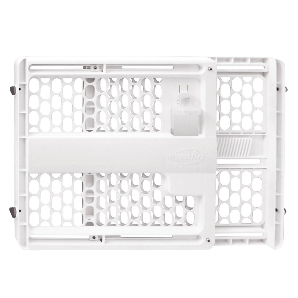 Image of Evenflo Memory Fit II Plastic Gate, White