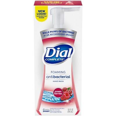 Dial Complete Antibacterial Foaming Hand Wash - Power Berries - 10 fl oz