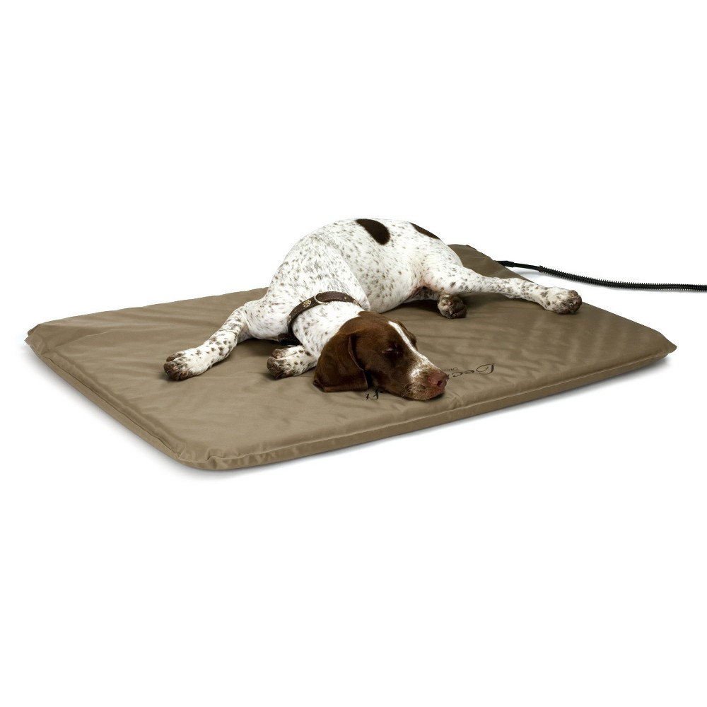 K&h Pet Products Lectro-Soft Outdoor Heated Bed Large Tan 25
