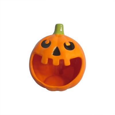 Halloween 8'' Orange Pumpkin Candy Bowl - Hyde and Eek! Boutique™