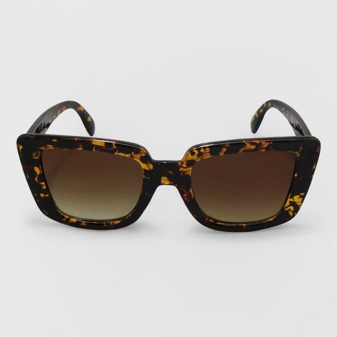 Women's Animal Print Cateye Plastic Sunglasses - A New Day™ Brown - image 1 of 2