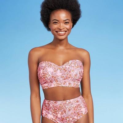 Women's Bandeau Bikini Top - Kona Sol™ Pink