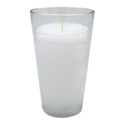 6.5oz Rosary Jar Candle White - Continental Candle