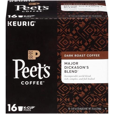 Peet's Coffee Major Dickason's Blend Dark Roast Coffee - Keurig K-Cup Pods - 16ct - image 1 of 3
