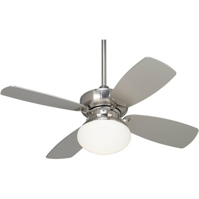"36"" Casa Vieja Modern Ceiling Fan with Light LED Dimmable Brushed Nickel Silver Blades Opal Glass for Living Room Kitchen Bedroom"