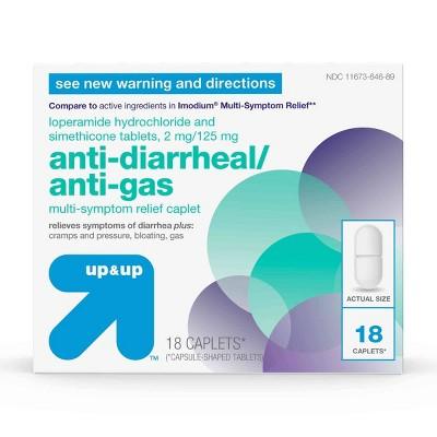Anti-Diarrheal / Anti-Gas Multi- Symptom Relief Caplet - 18ct - up & up™