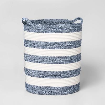 Floor Coiled Stripe Rope Navy - Pillowfort™