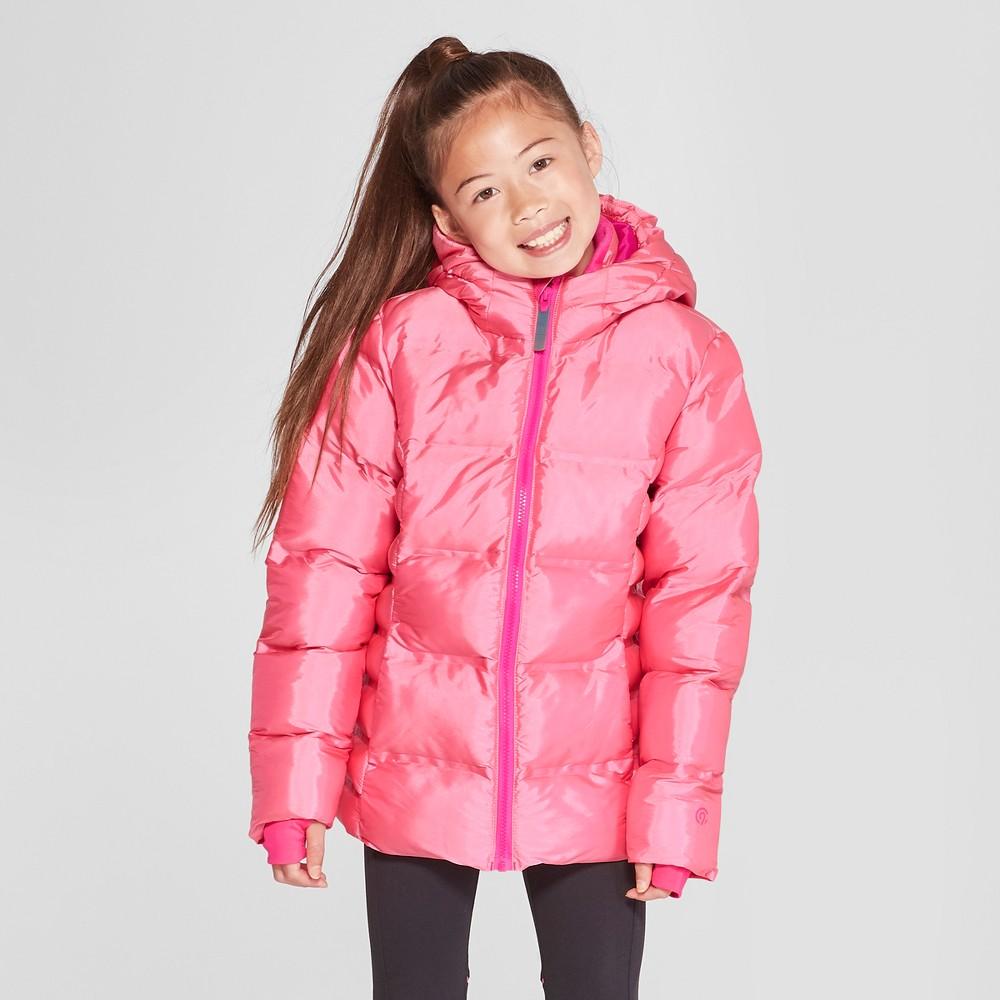 Girls' Printed Puffer Jacket - C9 Champion Pink XS