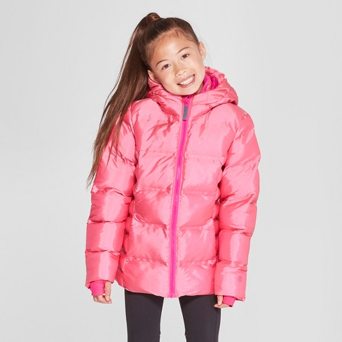 8df50c0fb Girls  Iridescent Puffer Jacket - C9 Champion® Pink   Target