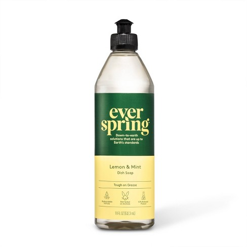 Lemon & Mint Liquid Dish Soap - 18 fl oz - Everspring™ - image 1 of 3