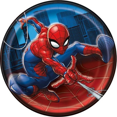 "Spider-Man 7"" 8ct Party Plates"