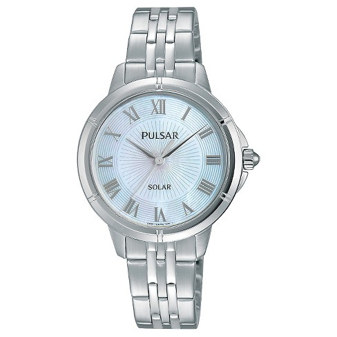 Women's Pulsar Dress Solar - Silver Tone with Mother of Pearl Dial - PY5005 - image 1 of 1