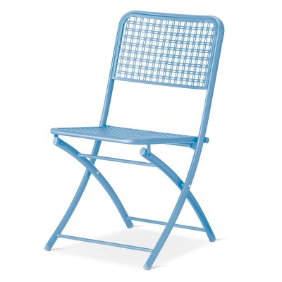 Metal Punch Folding Patio Bistro Chair   Threshold   Room Essentials™ :  Target