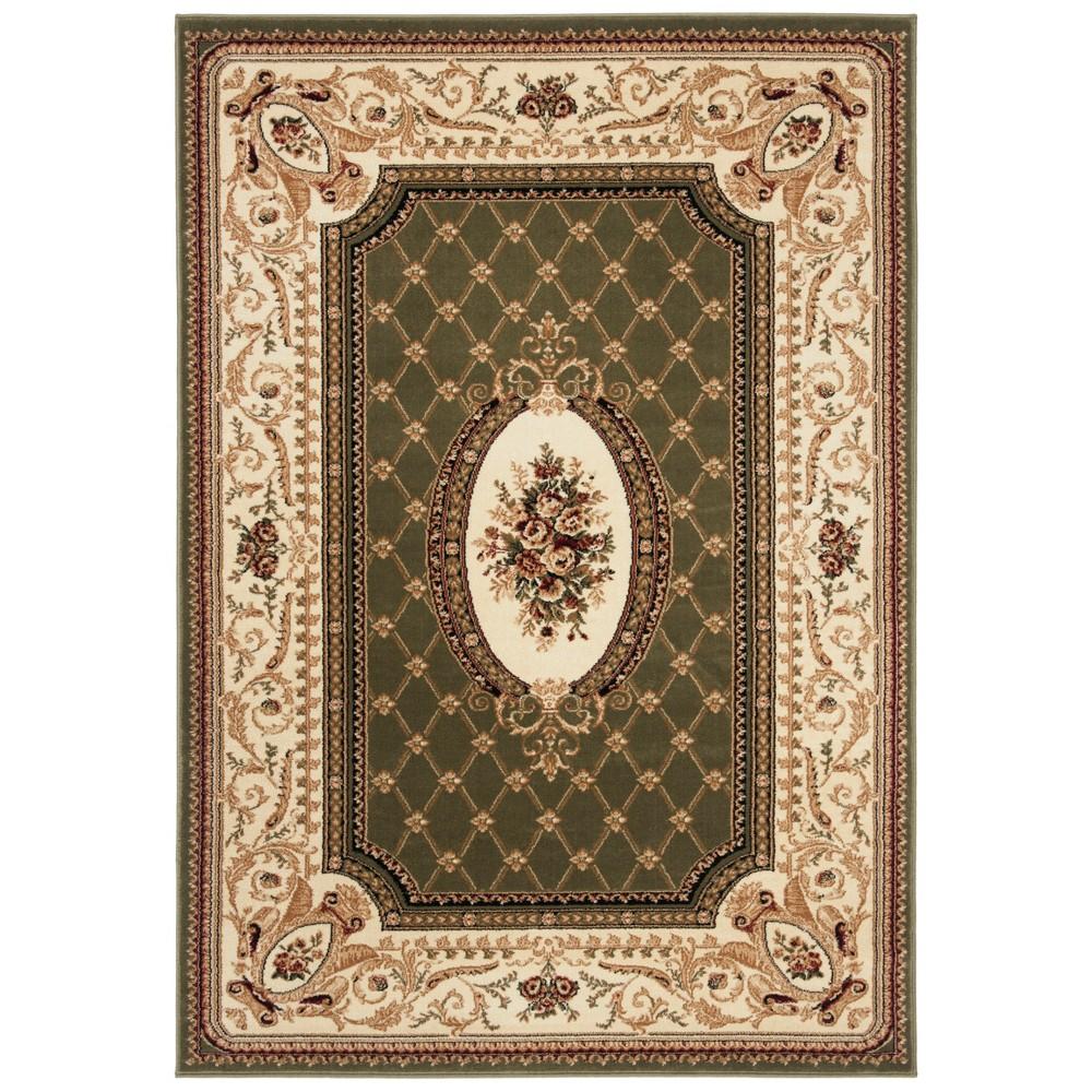 8'X11' Loomed Medallion Area Rug Sage/Ivory (Green/Ivory) - Safavieh