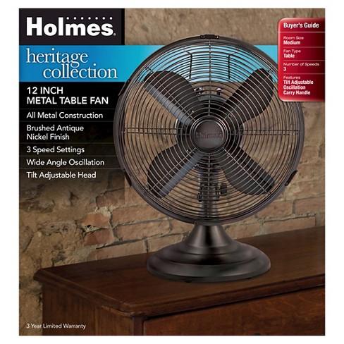 Holmes Metal Table Fan Bronze Hdf1206 Btu