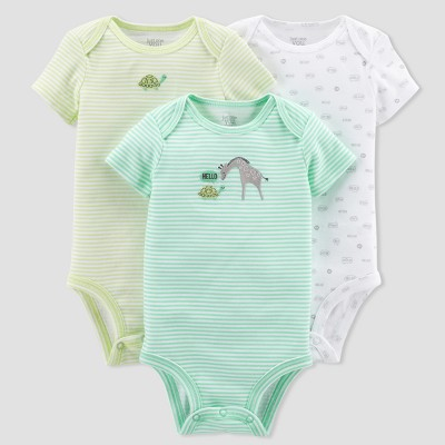 Baby 3pk Giraffe Bodysuit Set - Just One You™ Made by Carter's® Green/Blue 3M