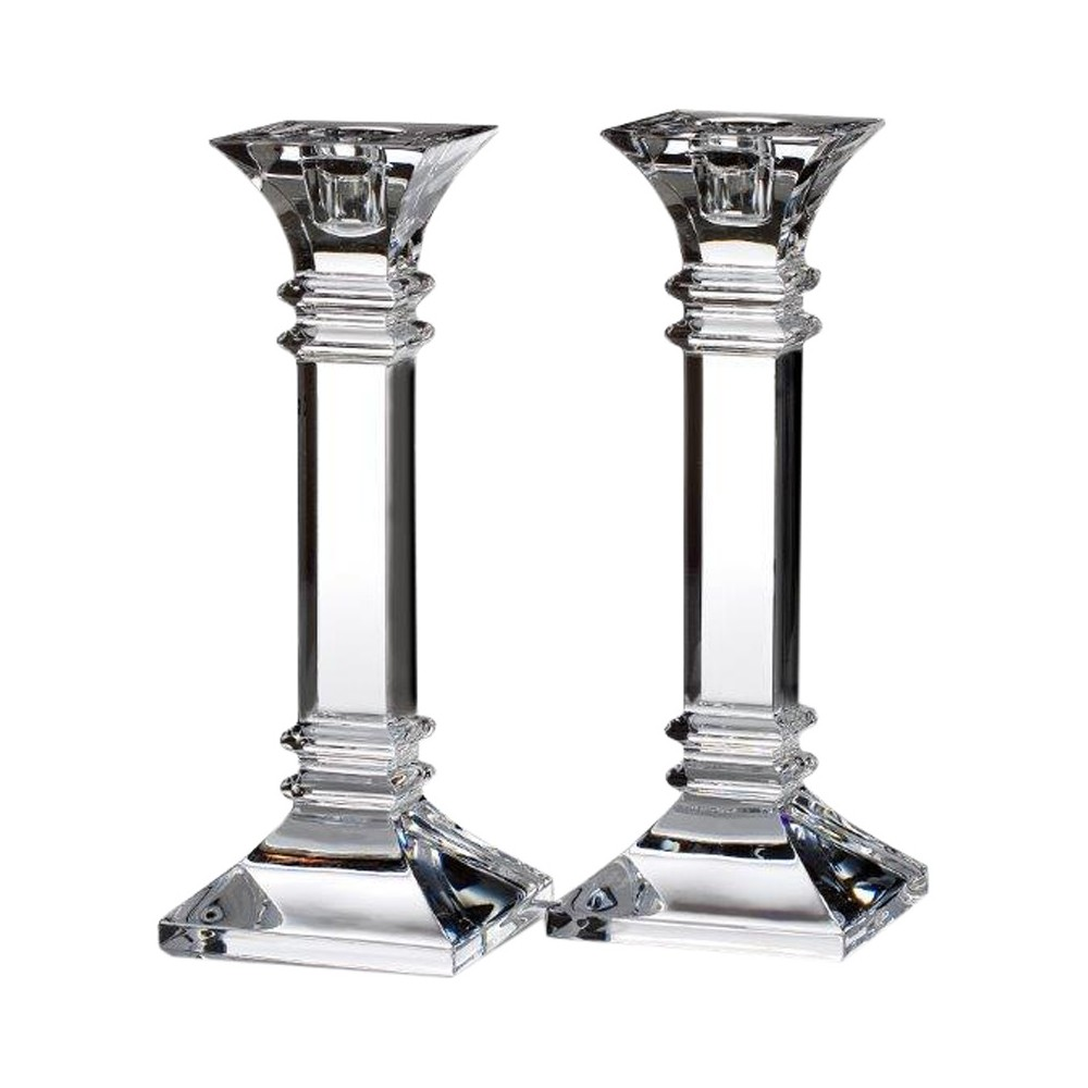 Image of 2pc Treviso Candlesticks 8 - Marquis By Waterford, Light Clear
