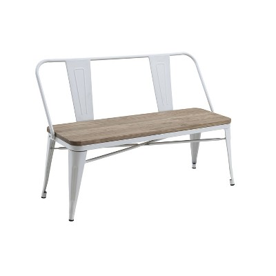 Clarkson Industrial Inspired Dining Bench - HOMES: Inside + Out