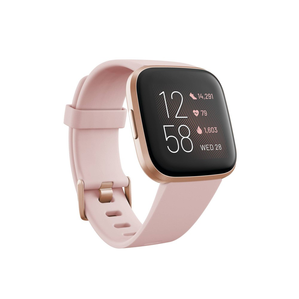 Fitbit Versa 2 Smartwatch - Petal/Pale Copper Rose, Pale Brown Pink